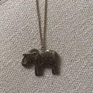 Long elephant necklace